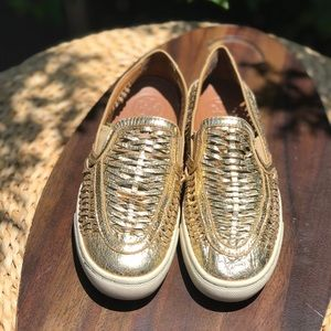 Tory Burch🍁🍂Gold Sneakers Size 5